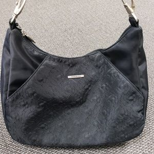 Travelon Black Side Pocket Hobo with Double Strap